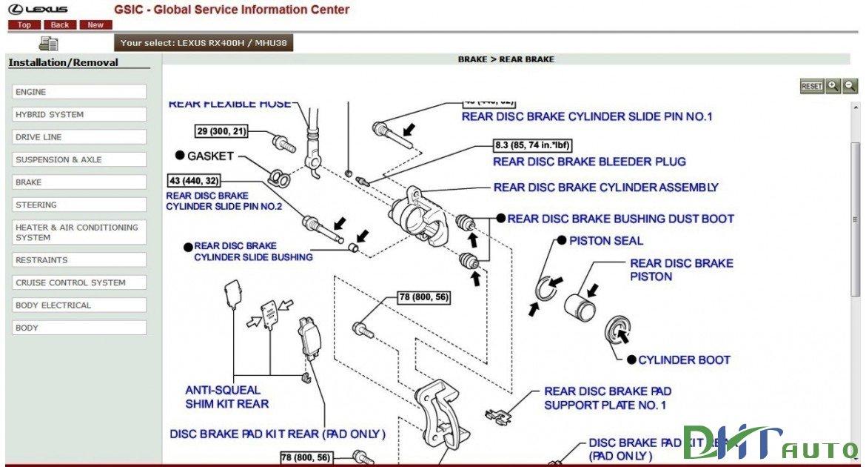 Lexus Rx400h Service Information Library  2005