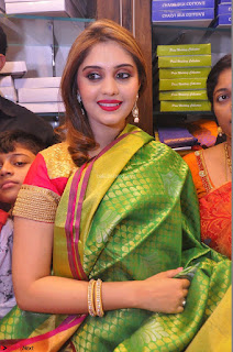 Surabhi looks stunning in Saree at Nakshatra Fashion Store Launch at Suchitra X Road 13.JPG