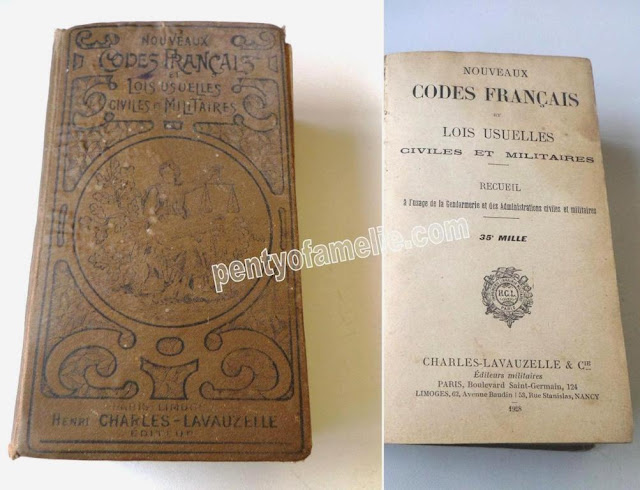 1928 French Book military authorities. Rare Vintage Book New civil and military common laws, by Henri Charles-Lavauzelle Edition.