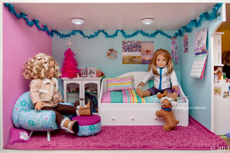 Pink Salon Styling Chair Tempurpedic Tp9000 Dolly Dorm Diaries ~ American Girl Doll House Blog: Our