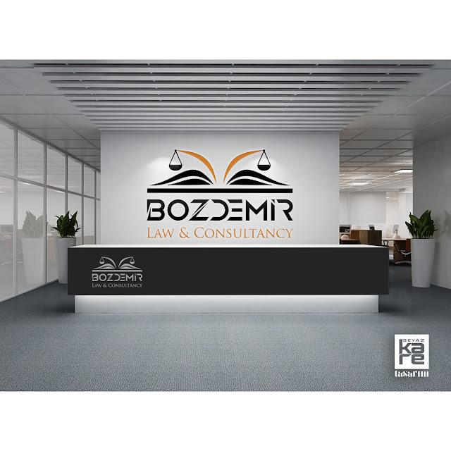 Law hukuk bürosu logo tasarımı