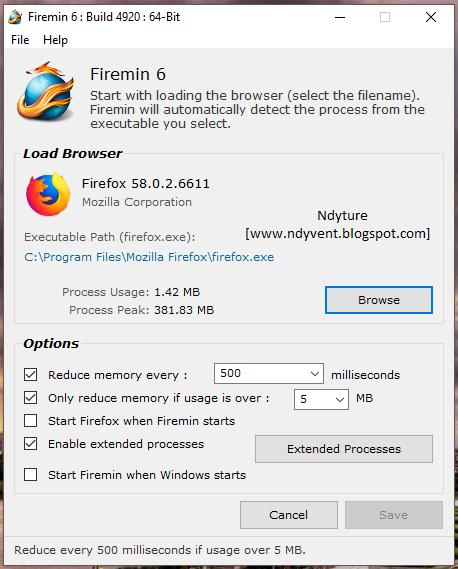 Firemin, Firefox, RAM, Mengurangi Beban RAM, Reduce RAM Firefox, Reduce RAM, Browsing