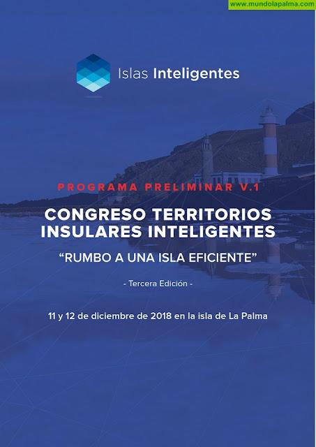 Los máximos responsables nacionales de las islas inteligentes se darán cita en el 'III Congreso de Territorios Insulares' de La Palma