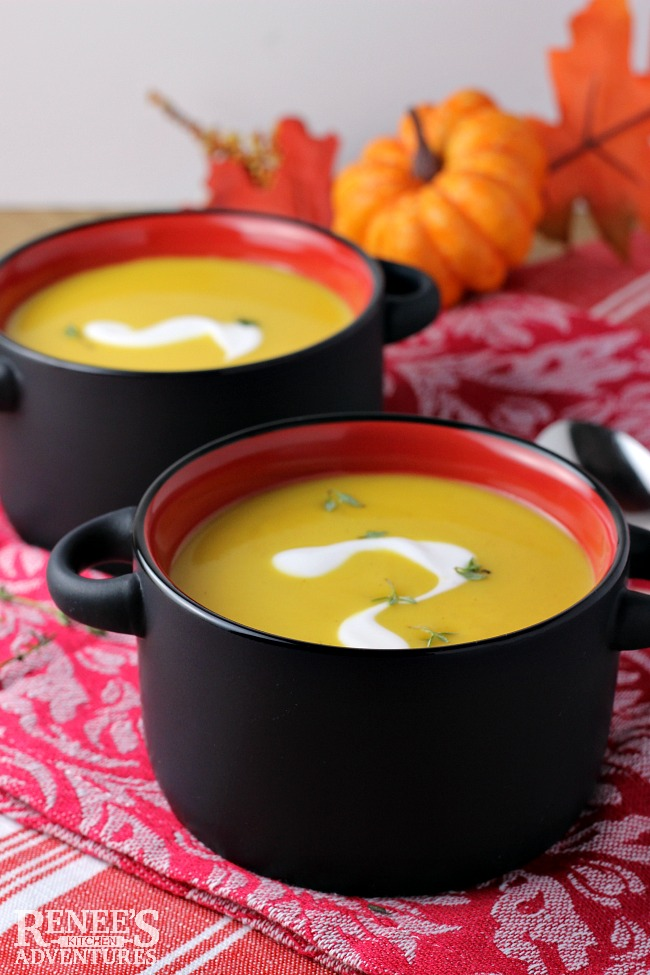 Easy Pumpkin Apple Ginger Soup   Renee's Kitchen Adventures