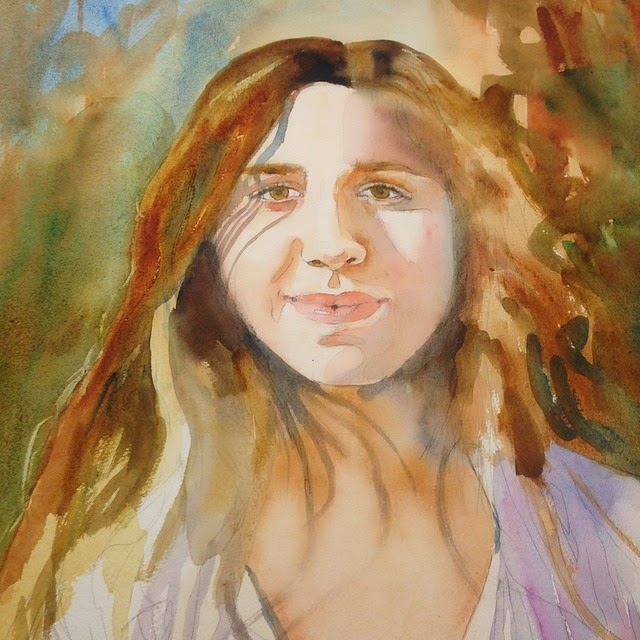 watercolor techniques for portraits by schulmanart