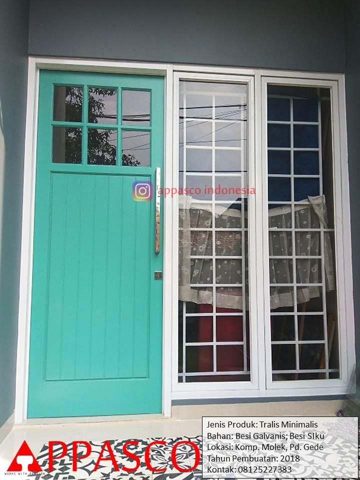 Pintu Klasik dan Teralis Minimalis Model Jadul Klasik Shabby Chic di Komplek Molek Pondok Gede