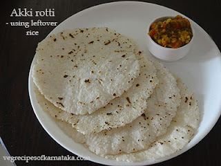 Akki rotti using leftover rice recipe in Kannada