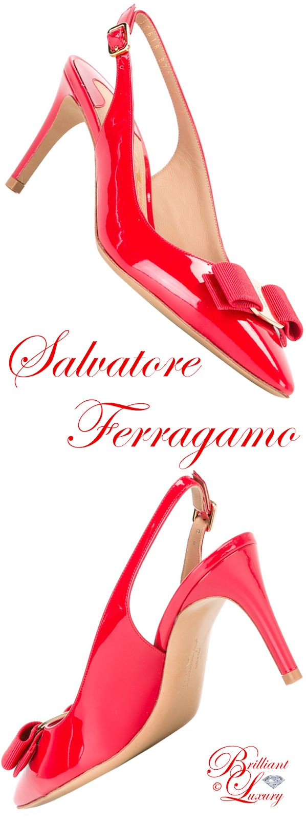 Brilliant Luxury ♦ Salvatore Ferragamo slingback sandals