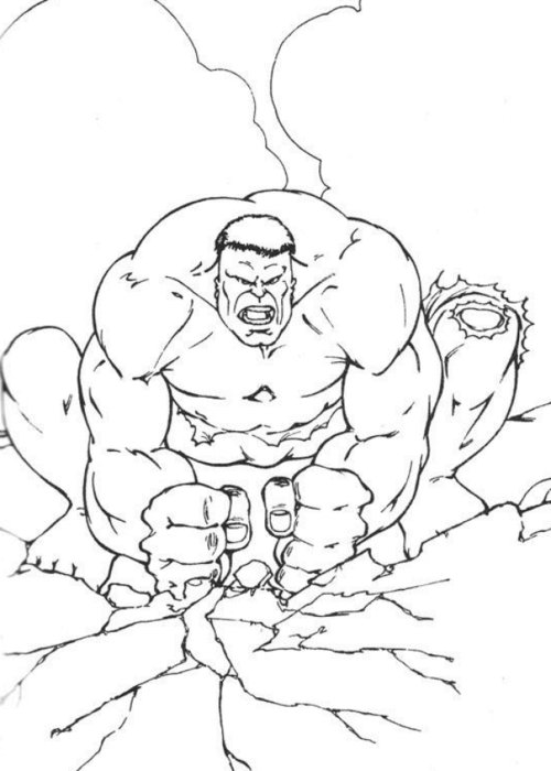 coloring pages incredible hulk - photo#17