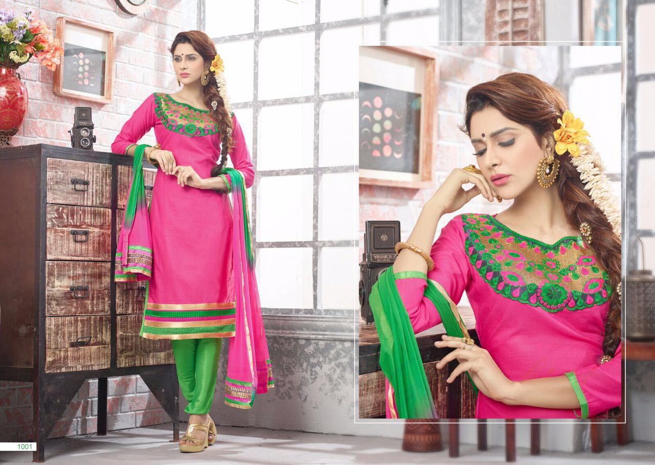 Feelings – Chuddidar Patern With Neck Work Dress Material
