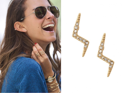 Stella & Dot Lightning Bolt Studs