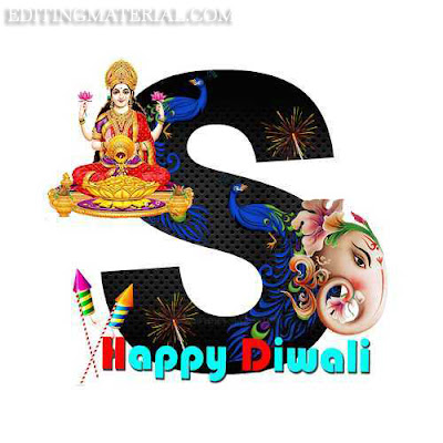 Happy diwali S alphabet image