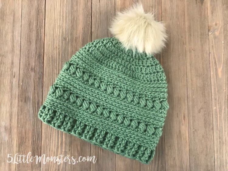 This free crochet hat pattern gives a beautiful texture with alternating  rows of bead stitch. 2396c9d1ac4
