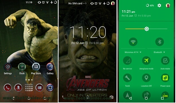 Hulk theme for Cyanogenmod 12 ( Cm12 )