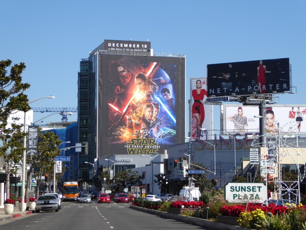 Star Wars Force Awakens billboard Sunset Strip