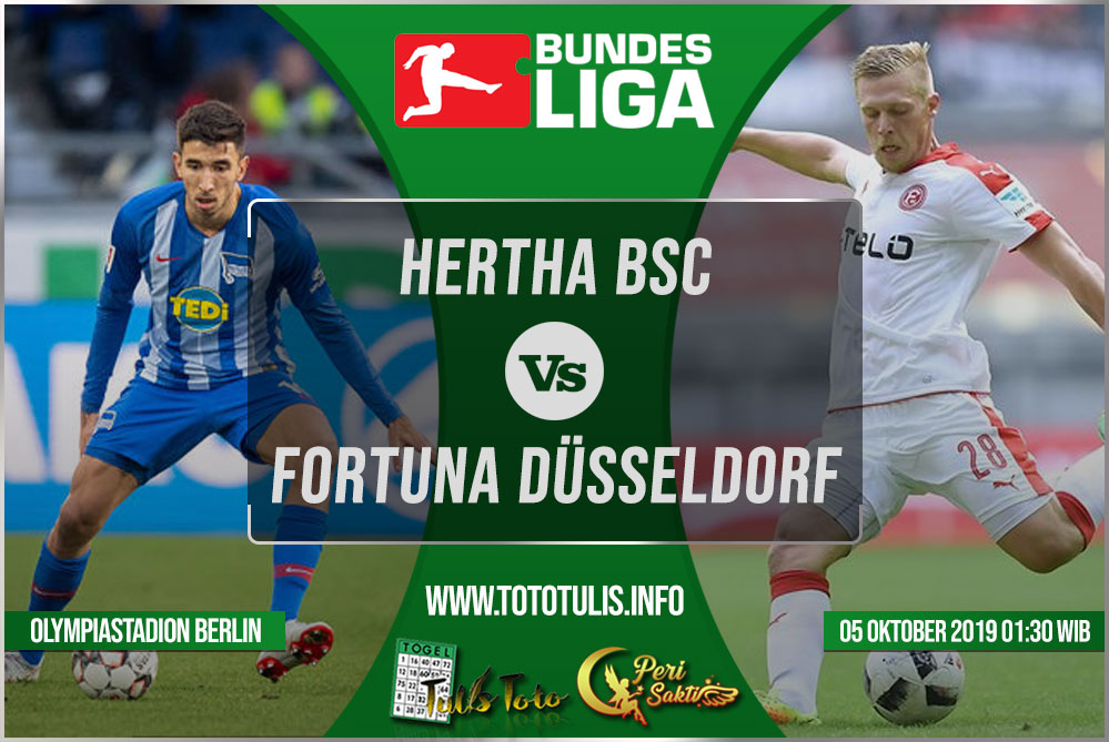 Prediksi Hertha BSC vs Fortuna Düsseldorf 05 Oktober 2019