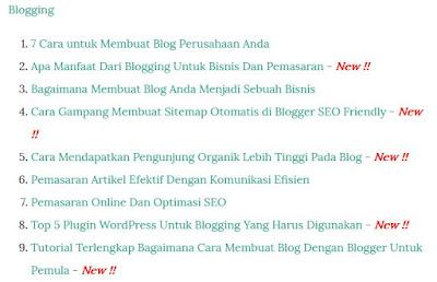 Membuat Sitemap Otomatis di Blogger SEO Friendly