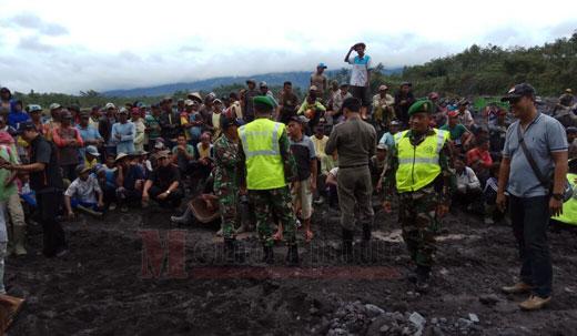 Penertiban salahsatu lokasi tambang pasir ilegal di Lumajang beberapa waktu lalu