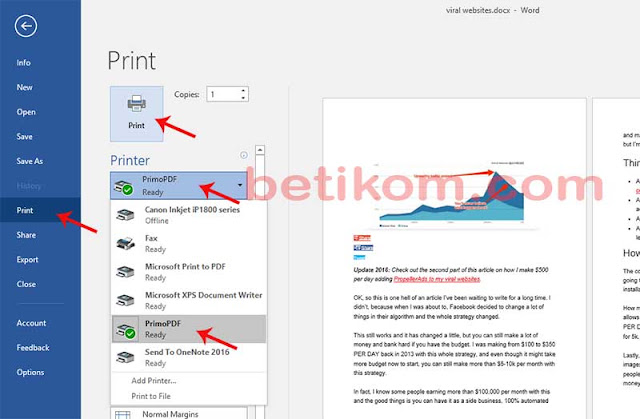 Cara membuat pdf dari word