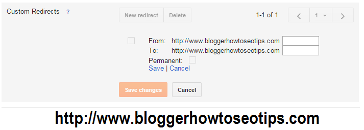 Custom Redirects in blogger