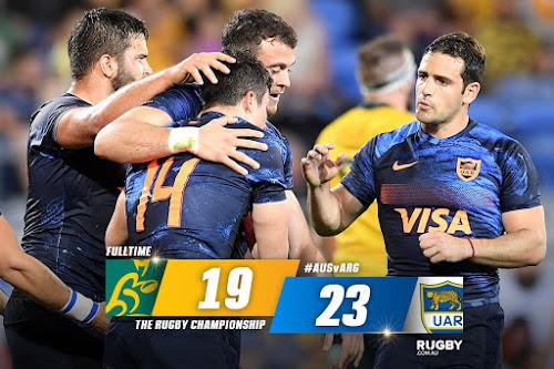 Histórica victoria de Los Pumas en Australia #PersonalRugbyChampionship