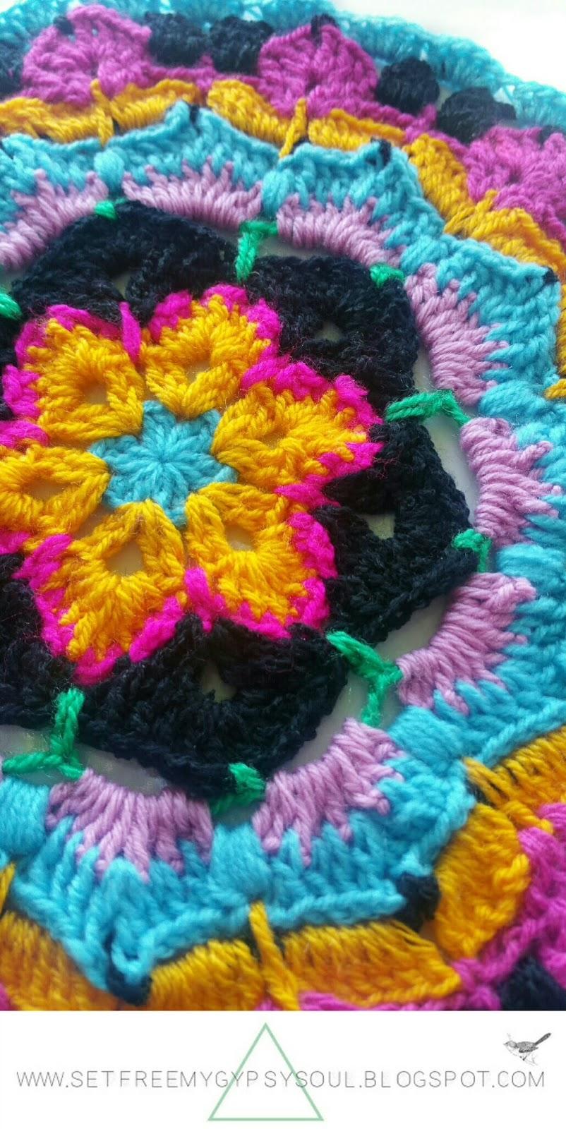 african flower crochet mandala pattern free boho floral hippie