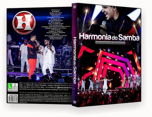 HARMONIA DO SAMBA AO VIVO EM BRASILIA DVD-R – CAPA DVD
