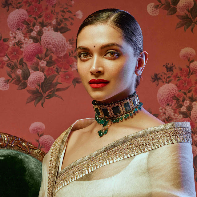 Even Sabyasachi's wallpaper cannot do without Deepika, leave alone his clothes