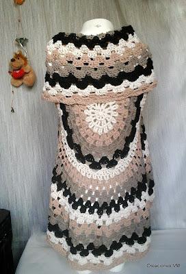 Chalecos tejidos a crochet de verano. Creaciones VM, Mar del Plata.