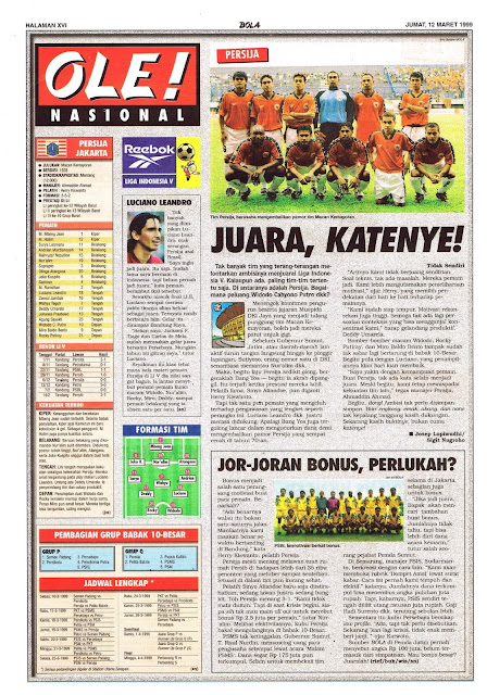 PERSIJA JAKARTA KANDIDAT JUARA LIGA INDONESIA 1999