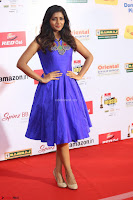 Eesha in Cute Blue Sleevelss Short Frock at Mirchi Music Awards South 2017 ~  Exclusive Celebrities Galleries 061.JPG