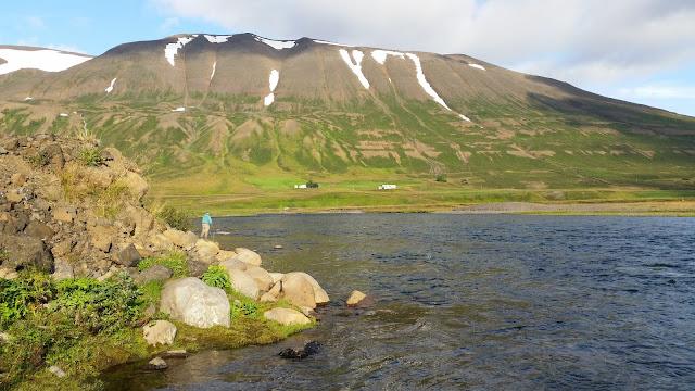 Grenivík. Hiking in northern Iceland