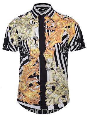 Unique Vintage Pattern Print Men's Shirt