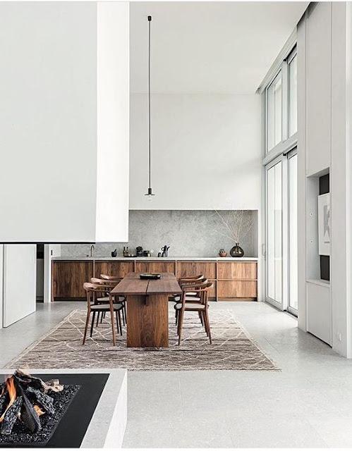Anvers / Une cuisine en bois minimaliste dans un penthouse /