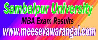 Sambalpur University MBA 1st - 3rd Sem Dec 2015 Exam Results