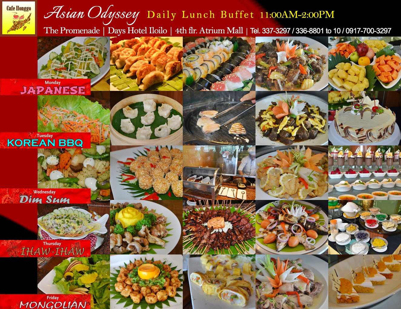 Iloilo city food days hotel Lunch Buffet