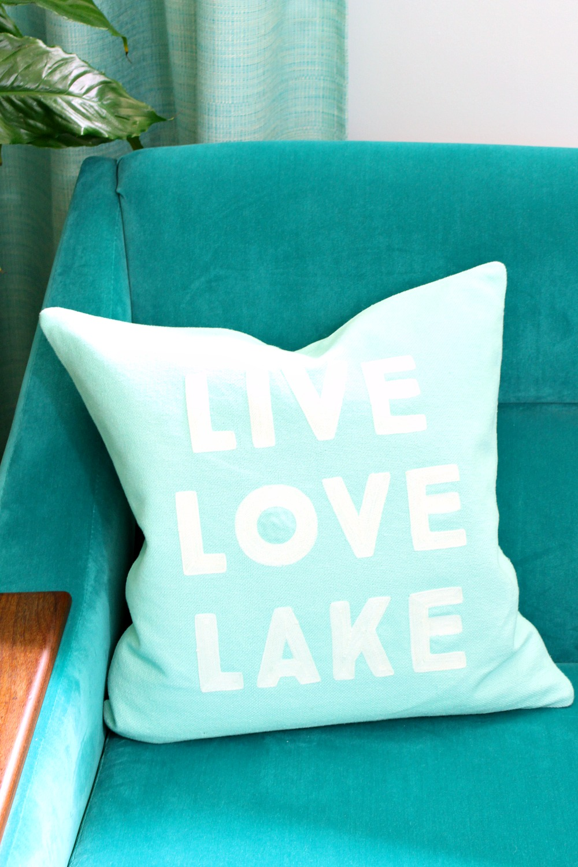 Live Love Lake Pillow