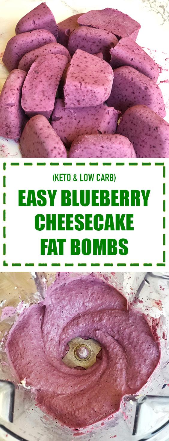 Easy Blueberry Cheesecake