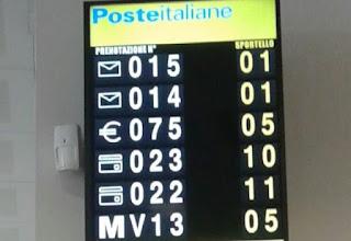 tabella numeri alla posta