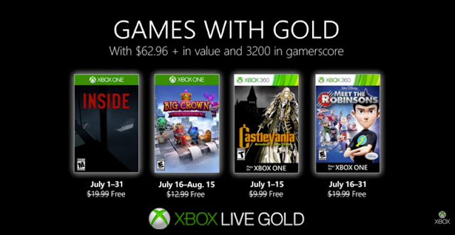 Xbox Games with Gold: the free games of july 2019