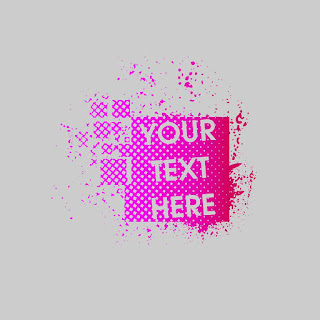Pink Abstract Textured Logo Template Free Download Vector CDR, AI, EPS and PNG Formats