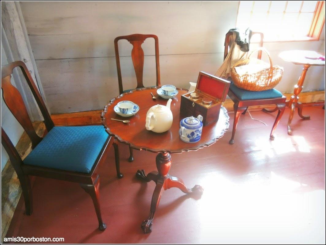 Interior la Casa del Capitán William Smith en Lincoln