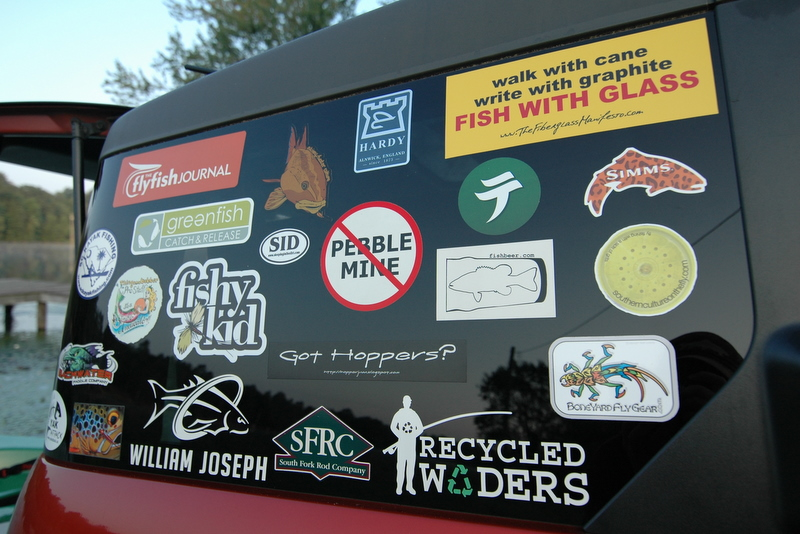 T f m has gotten a lot of support from the start and driving around with a few decals on the windows representing some of the best in the fly fishing