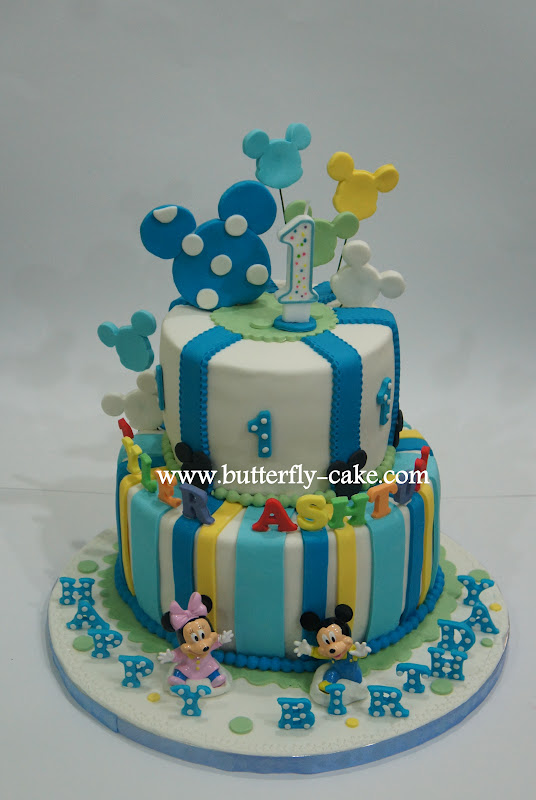 Butterfly Cake Baby Mickey Theme