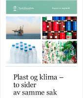 """Forside på rapporten """"Plast og klima – samme sak"""""""