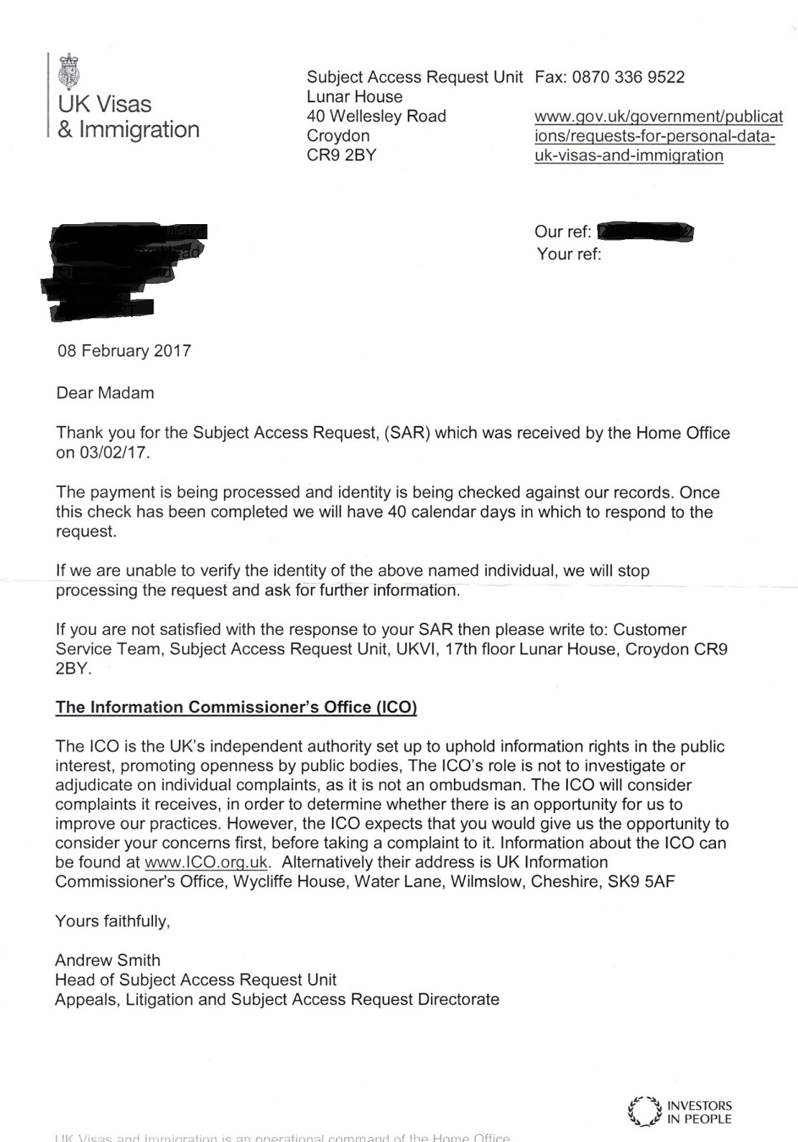Bad Reason: The UK Home Office and our Subject Access Request