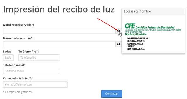 www.cfe.gob.mx imprimir mi recibo