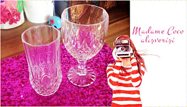 Çeyiz alışverişi | Madame Coco Audrey meşrubat bardağı ve kadeh takımı