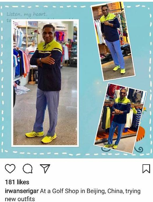 Emulating the narcissistic behaviour of a Gen Y, he shows off his shoe  fetishism in his Instagram like a hormone loaded adolescent. Wonder what  Singaporeans ...