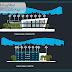 مشروع موقف سيارات parking بتصميم جميل اوتوكاد dwg